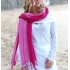 Pink tasselled cotton sarong
