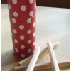 Colouring pencil tube - red spotty