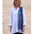 White long sleeved cotton kurta top/tunic